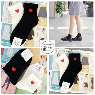 韓國愛心刺繡襪襪