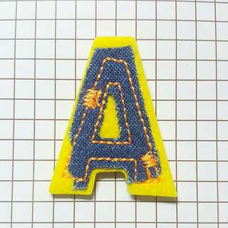 Iron On Patch/ Applique   ↪ Alphabet A  💱 $2.90 Each Piece