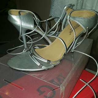 Silver Wrap Around Heels