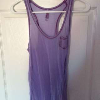 Sheer Purple Tank Top