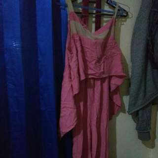 bju jumpsuit pink simple