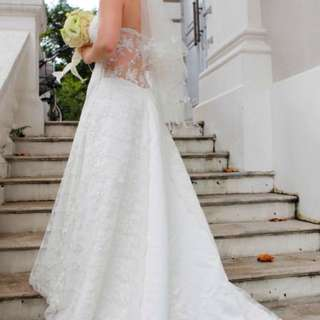 Wedding Gown With Swarovski Crystals