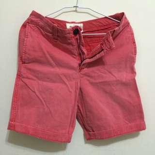 Abercrombie & Fitch 男童粉色休閒短褲 16約28腰