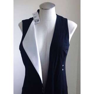 ◾️◽️BLACK AND WHITE LONG VEST◽️◾️