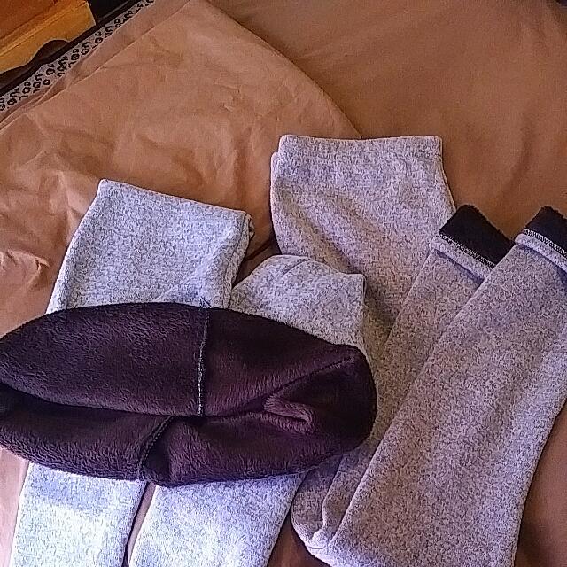 2 Pairs Of Fleece Lined Leggings