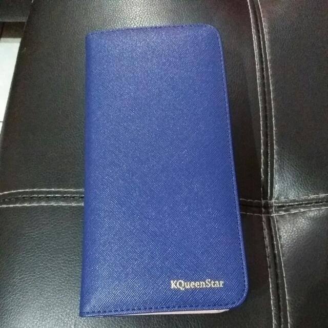 寶藍長皮夾
