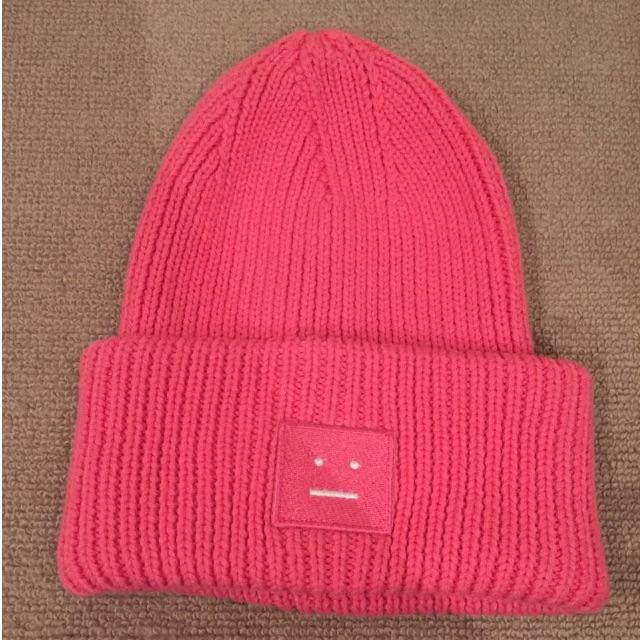 acne pinky knit hat