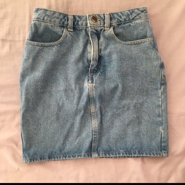 American Apparel Denim High Waist Skirt