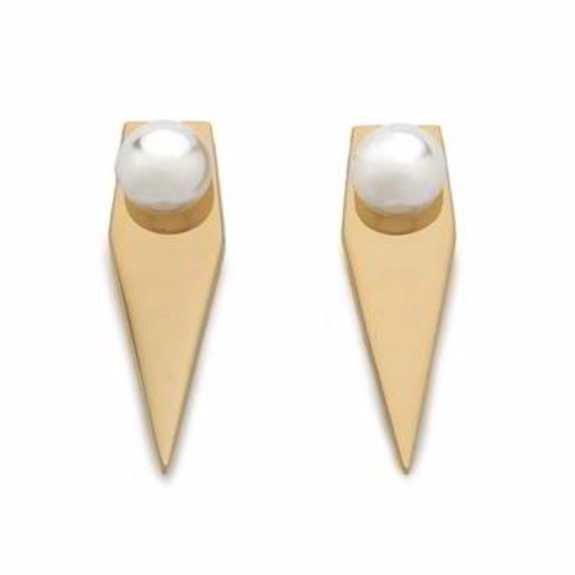 Anting Tusuk rock chic forever21 pearl decorated gemetrical shape dior - RA8A5C