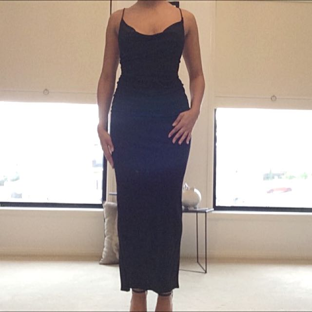 Bardot Black Silky Dress