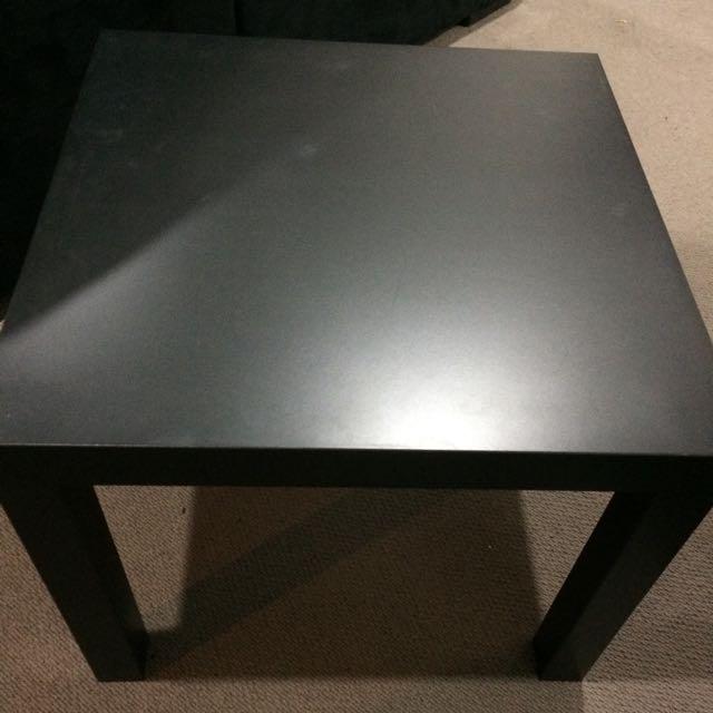 Black Square Table