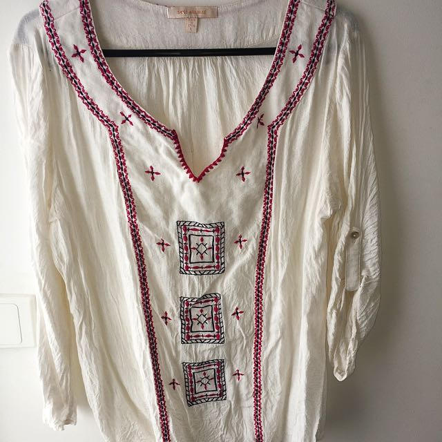 Bohemian White Cream Shirt
