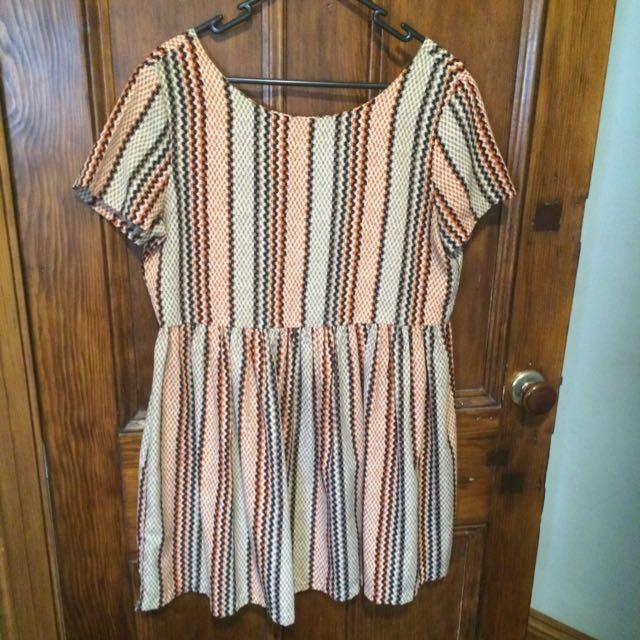 Boohoo Size 10 Smock Dress