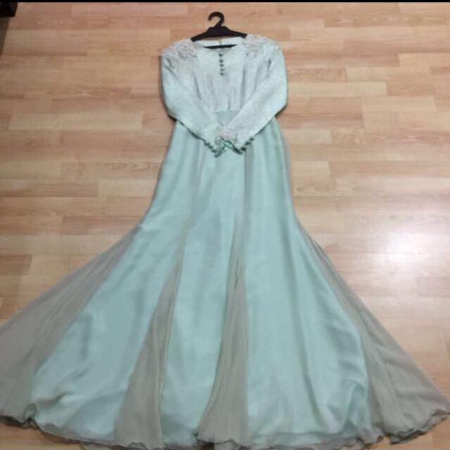 Brocade Wedding/Dinner Dress, Fesyen Wanita, Pakaian Pengantin di ...