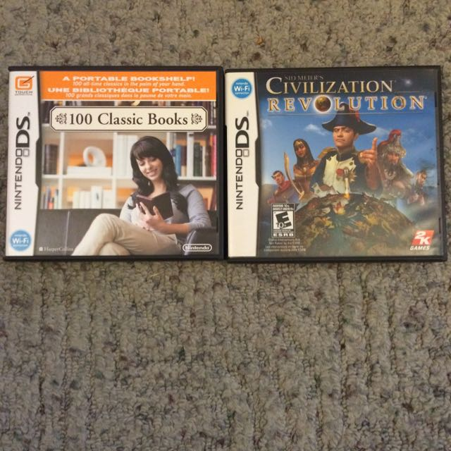 Civilization Revolution and 100 Classic Books DS Games
