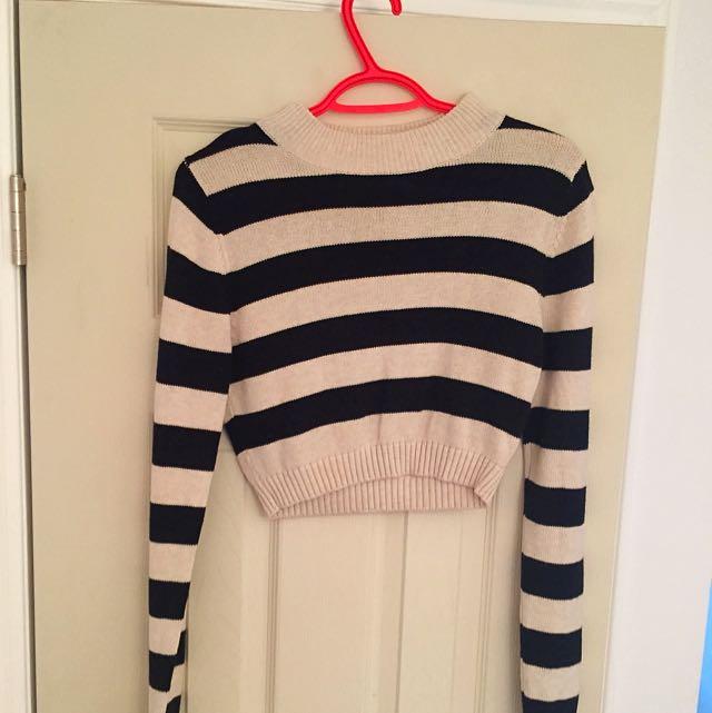 Cotton Crop Top Long Sleeve