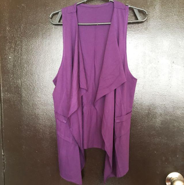 Cotton Purple Vest