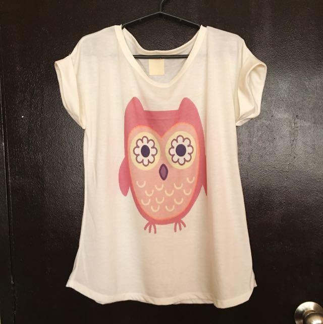 Cute Owl Flowy Top