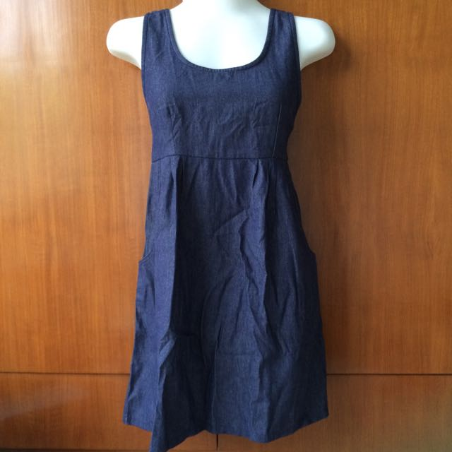 Denim Pocket Mini Dress