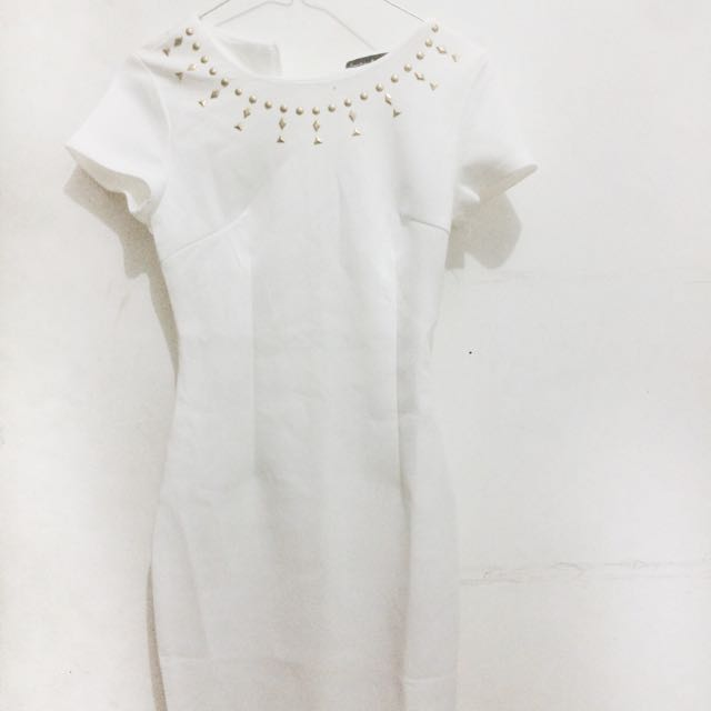 Embellished White Dress