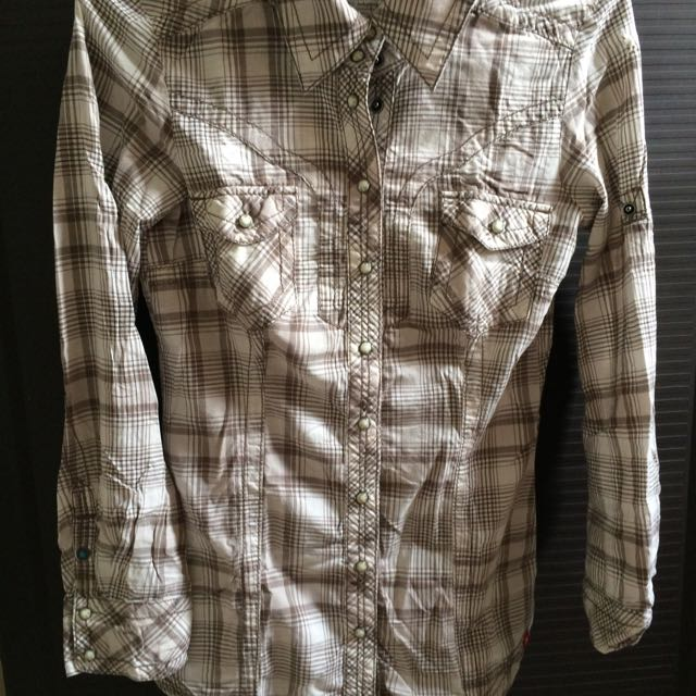 Esprit Plaid Long Sleeves