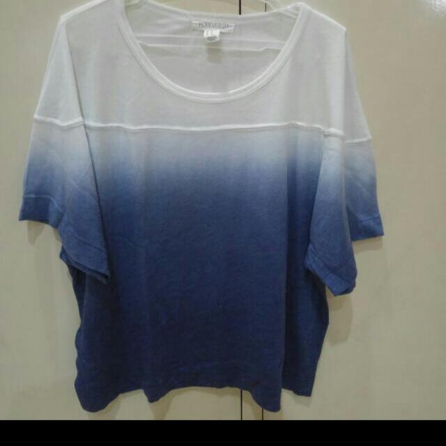 Forever 21 Ombre Cotton Crop Top