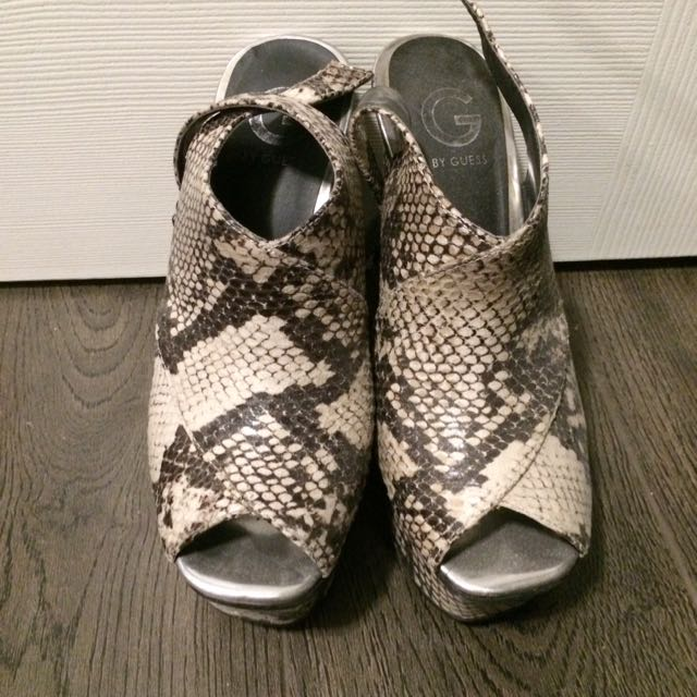 Guess Snakeskin Wedges