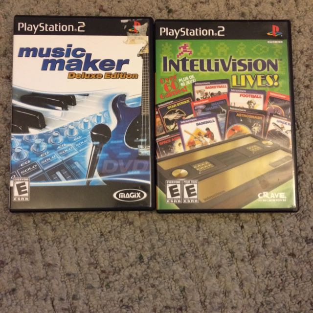 Intellivision Lives and Music Maker PS2 Games