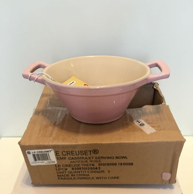 Lc Le Creuset Coulet Serving Bowl 粉紅色salad Kitchen Liances On Carou
