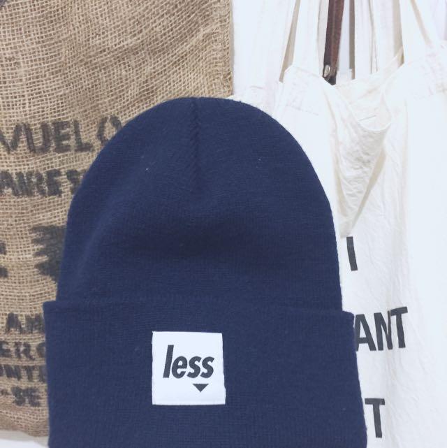 Less 毛帽 深藍