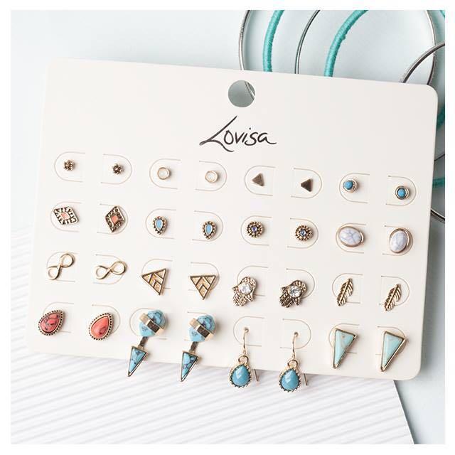 澳洲Lovisa 超值耳環16件組