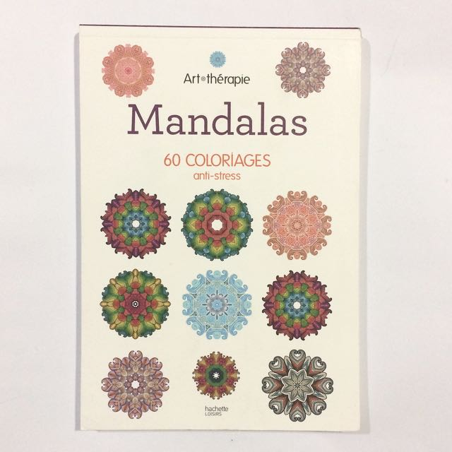 Coloriage Anti Stress Magazine.Mandalas Anti Stress Therapy Coloring Book 60pages