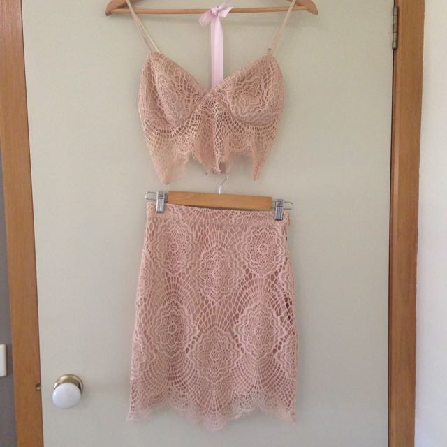 Nude Lace Set
