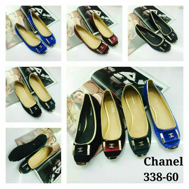 Nyb-afo 338-60 Chanel Flat Shoes Bahan   Baldu Kualitas Semi Premium Warna    black uk 37 00adc311b5
