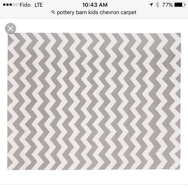 Pottery Barn Kids Chevron Carpet 8x10