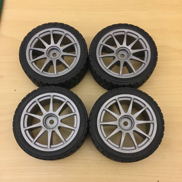 Rc - 1/10 Scale Tamiya Wheels And Tires - - Reserved -