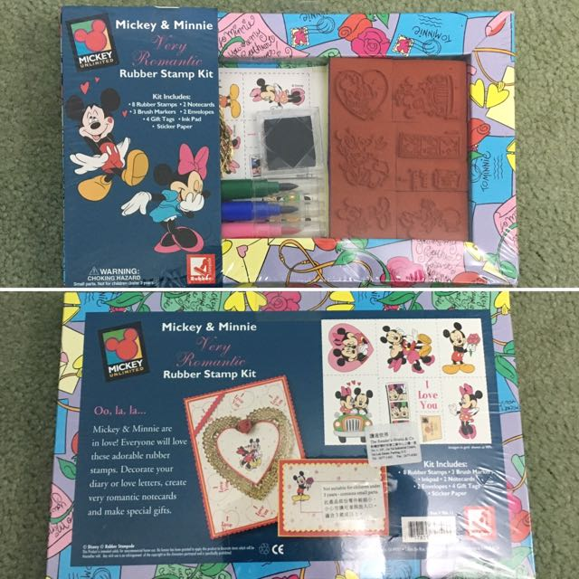 Stamp & Card Kit - Mickey & Minnie