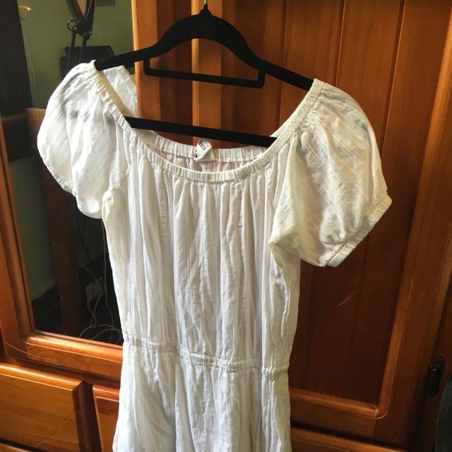 Subtitled White Sun Dress