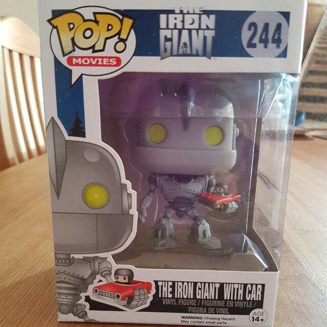 The Iron Giant With Car Pop Vinyl