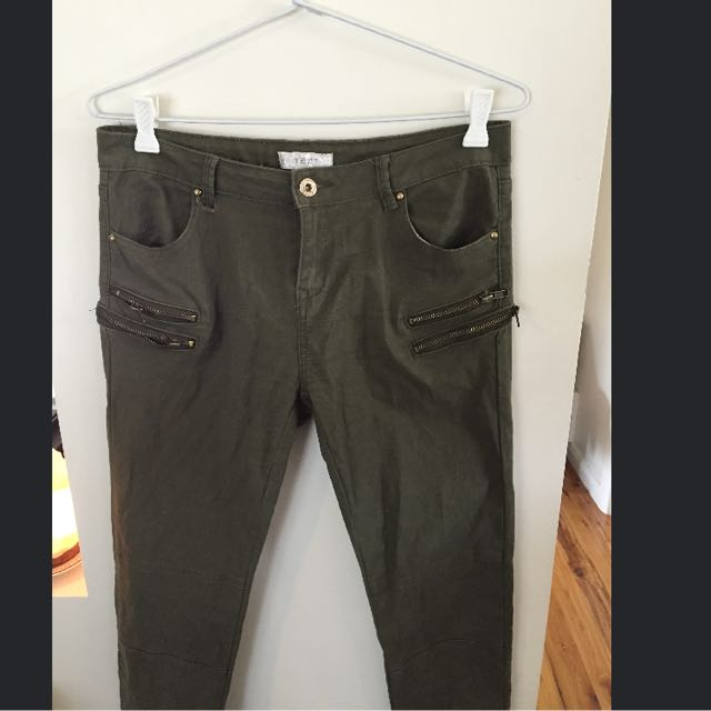 Tight Olive Green Pants