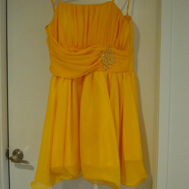 WORN ONCE - yellow dress