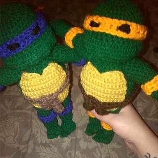 TMNT Crochet Figures