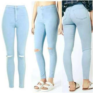 Light Denim HW Pants ❤