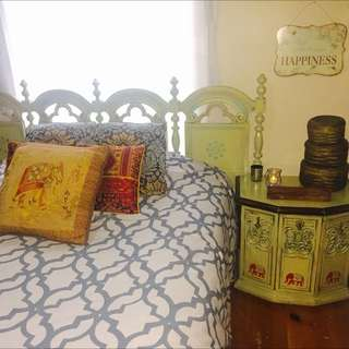 """The Bohemian Sitar Player"" Bedroom Set $500"