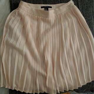 F21 Blush Pink Pleated Skirt ❤ XS-S