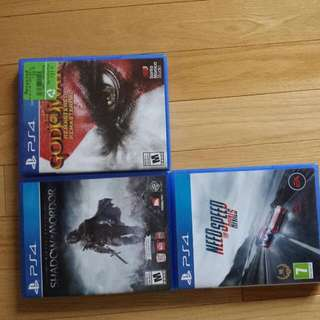 Shadows of Mordor, God of War remastered, Need for Speed rivals