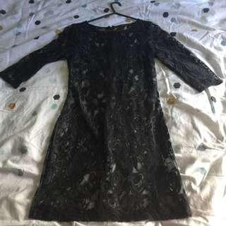 Portmans Lace Dress Shell - Size 8