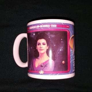 Counselor Deanna Troi Star Trek Vintage 1992 Ceramic Mug