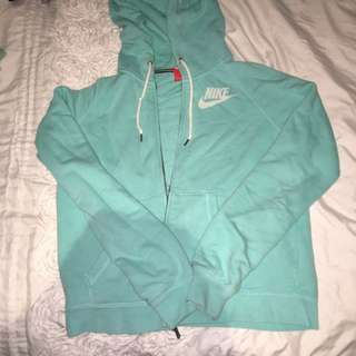 Nike Hoodie Turquoise Size M