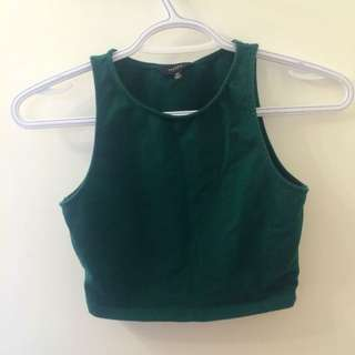 Talula Crop Top Forest Green